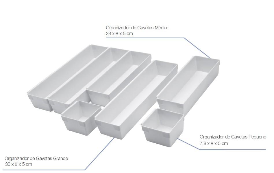 Organizador de Gavetas c/ 07 peças de encaixe