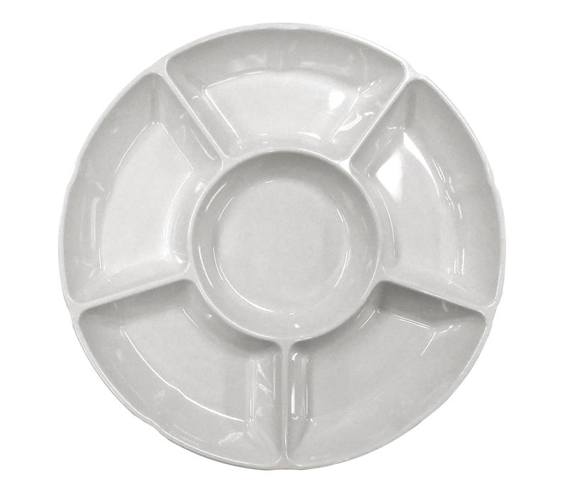 Petisqueira Prato Com 6 Divisões Em Melamina 30,5X3,4 cm