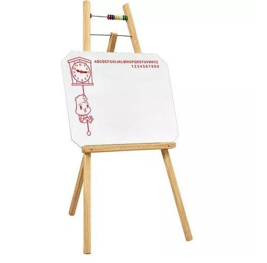 Quadro Branco Infantil Com Cavalete 48X50 cm (Quadro) 100 cm (Altura) 7003 - SOUZA + 3 Marcadores Sortidos Para Quadro Branco + 1 Apagador Para Quadro Branco