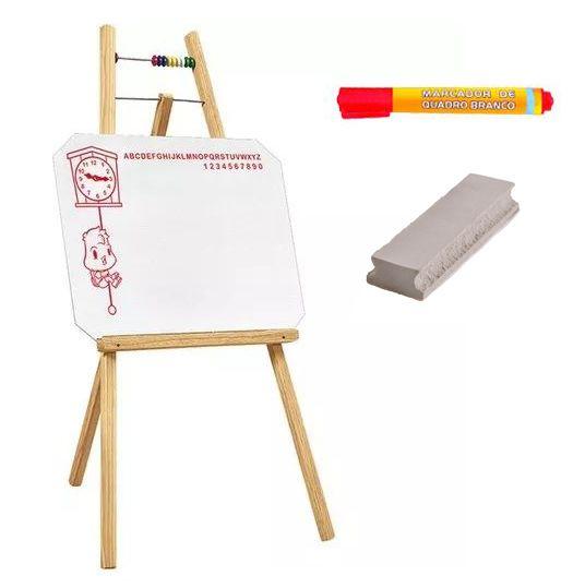 Quadro Branco Infantil com Cavalete 48x100 cm R 7003 + CANETA + APAGADOR