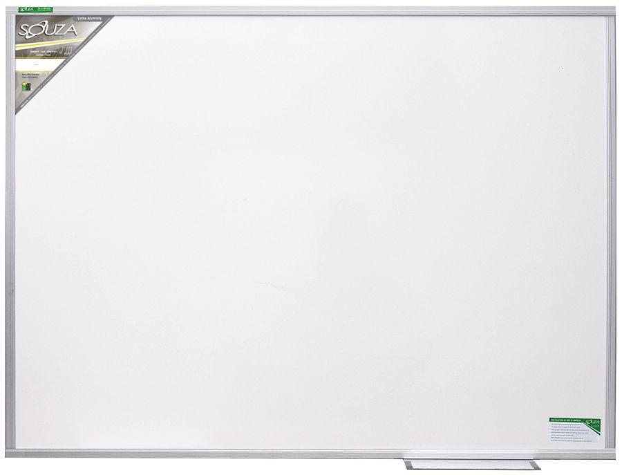Quadro Branco Luxo Magnético (Fórmica e MDF) 90x60 cm Com Moldura de Alumínio Pop 5612 - Souza