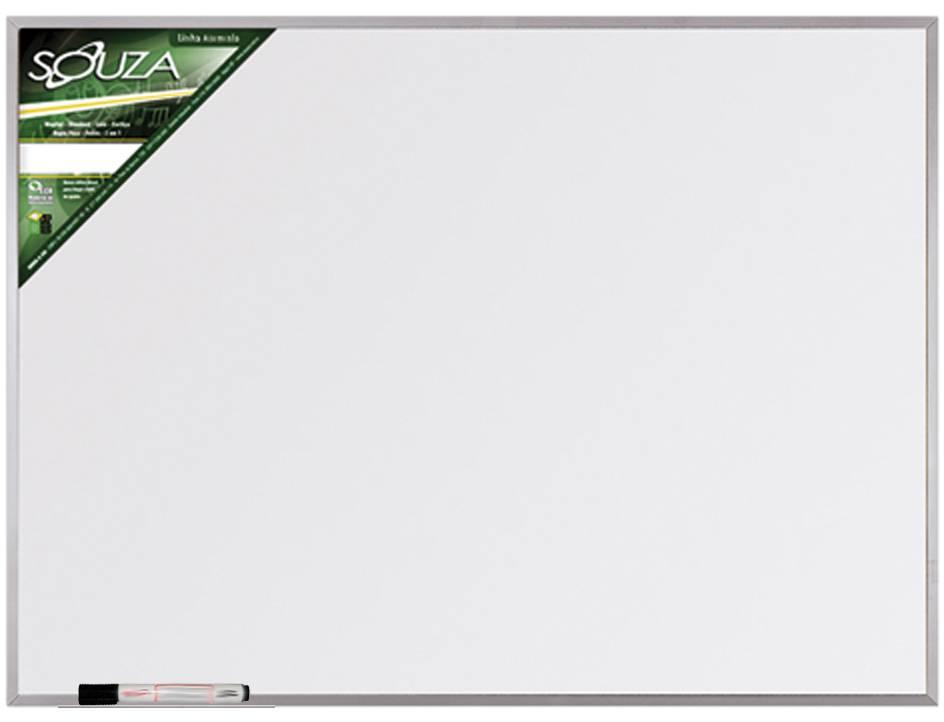 Quadro Branco Standard 90x60 cm com Moldura de Alumínio Pop 5603 + 1 Marcador Para Quadro Branco