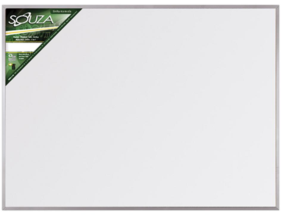 Quadro Branco Standard 90x60 cm Com Moldura de Alumínio Pop 5603 - Souza