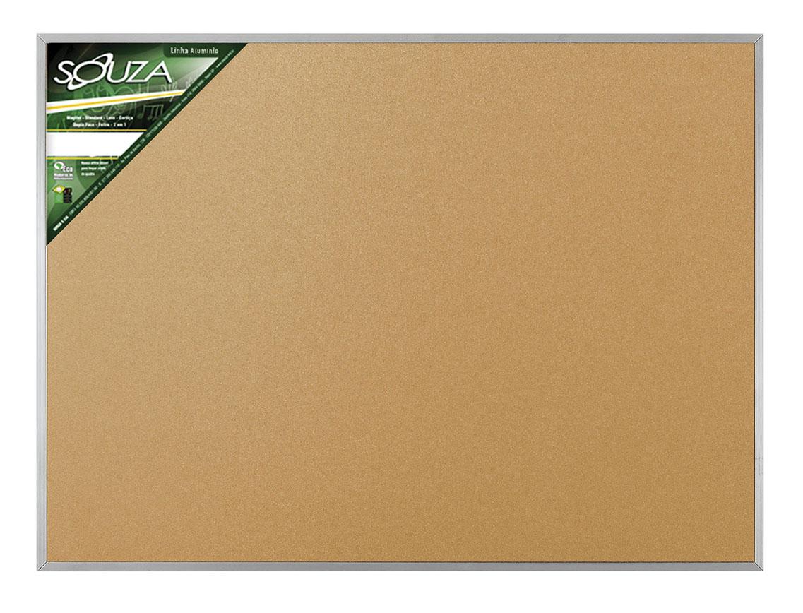 Kit 2 Quadros de Cortiça Standard 90x60cm Moldura de Alumínio Pop Referência 5703 SOUZA