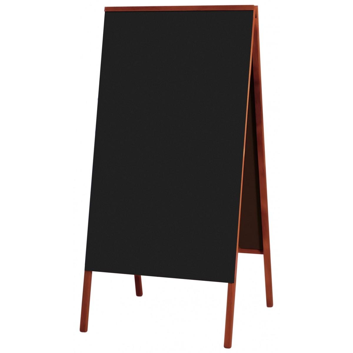 Quadro Negro Cavalete de Calçada Madeira Cor Mogno DUPLA FACE 100 X 60 cm (1,20X60 cm Com as Pernas) Referência 2121 SOUZA