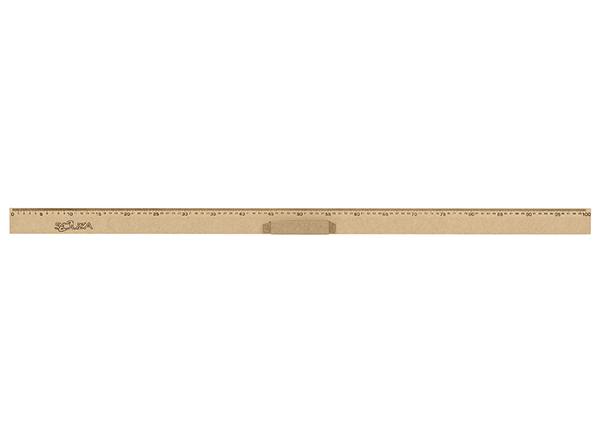 Régua de Madeira Em MDF Natural 100 cm Com Pegador Referência 1517 Souza