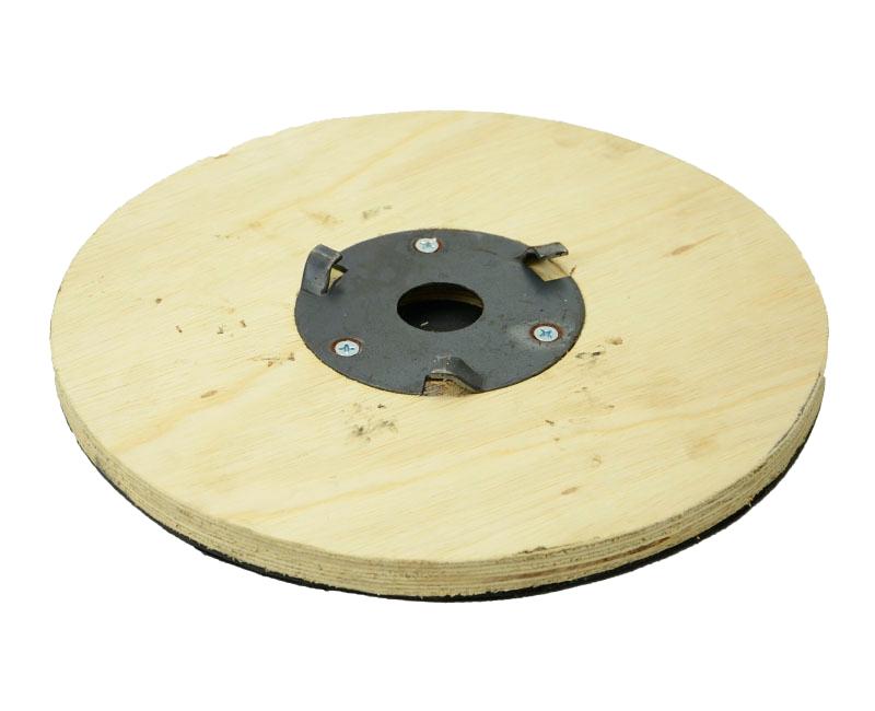 Suporte Para Disco de Limpeza Com Velcro COM Flange 350 mm Para Enceradeira CLEANER, Allclean, Bandeirantes Entre Outras