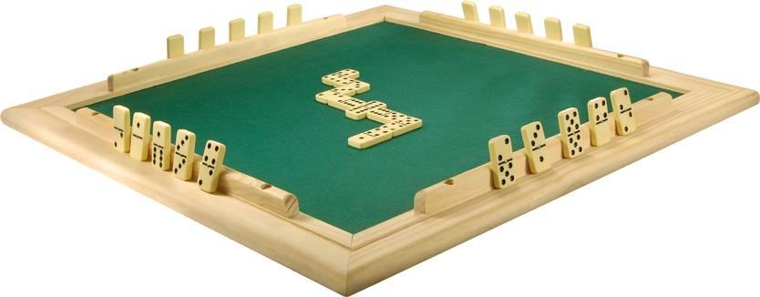 Tabuleiro de Mesa Para DOMINÓ Com Feltro Verde 66x66 cm 7009