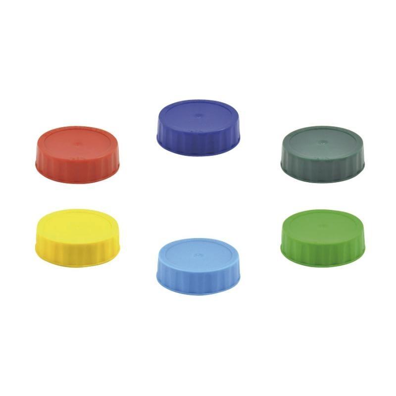CONJUNTO COM 6 Tampas de Reposição Fechada (Para o Fundo) Coloridas Para Bisnagas FIFO Bootle Canadá Originais