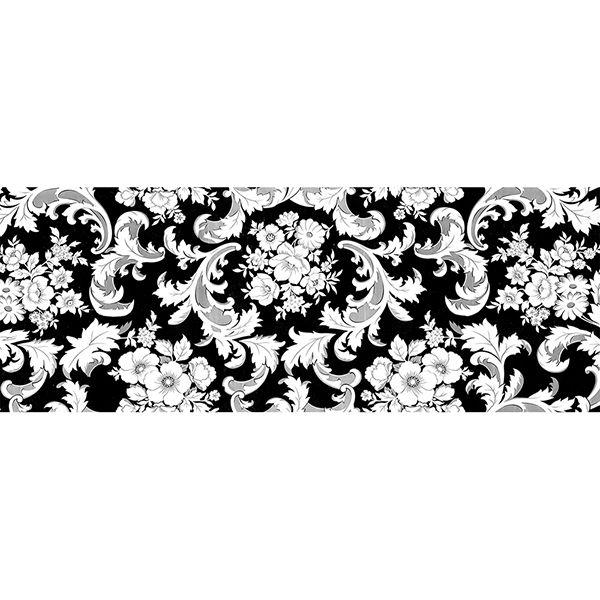 Toalha de Mesa Plástica 1,38X1,38 Metros Diamante Estampa Dona Branco