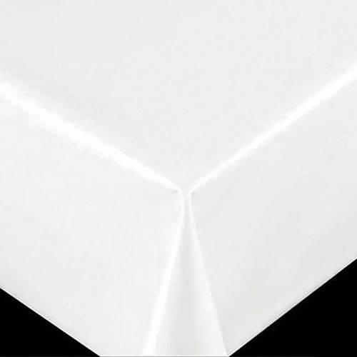 Toalha de mesa plástica flanelada Quadrada 1,38X1,38 Branca Relevo