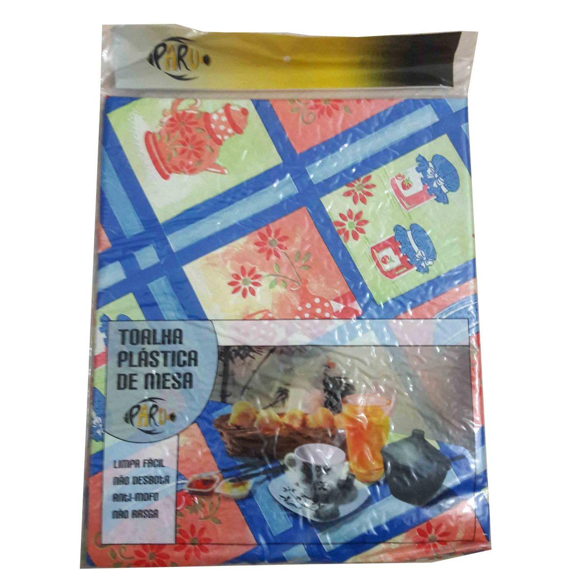Toalha de mesa plástica flanelada Redonda 1,38X1,38 - Paraty