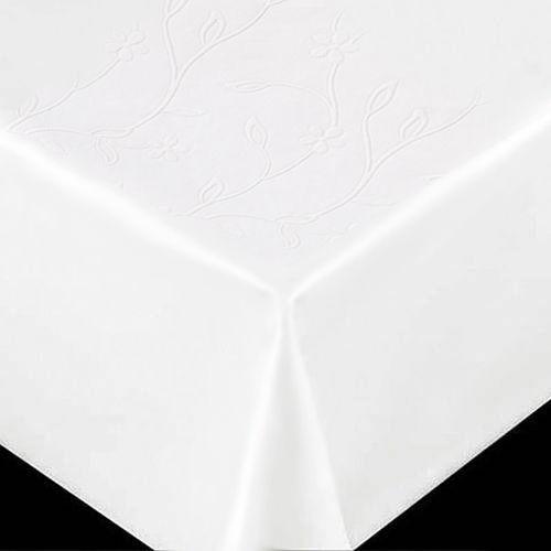 Toalha de mesa plástica flanelada Retangular 1,38X2,20 Branca Relevo