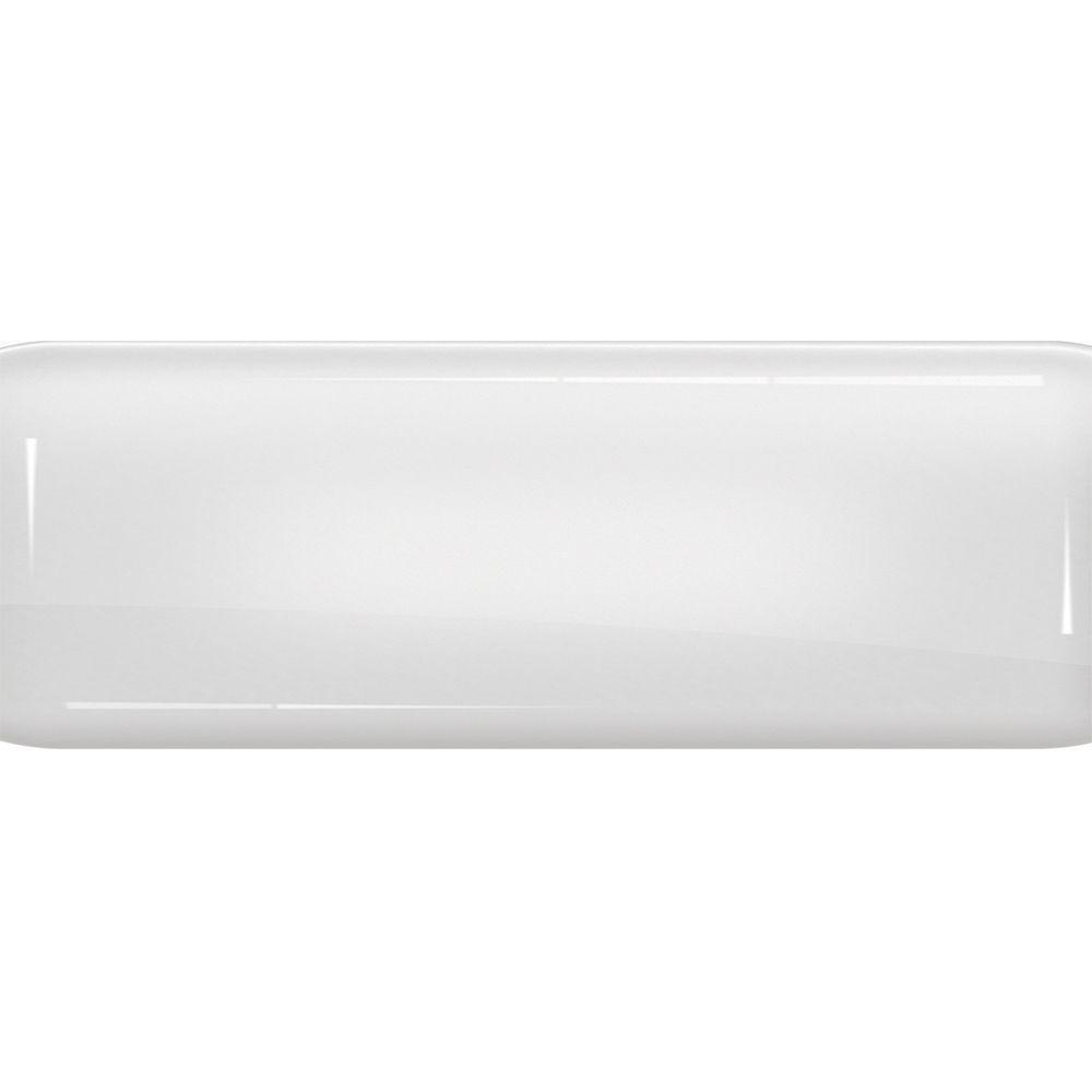 Toalha de Mesa Plástica Térmica 1,38X2,20 Metros Estampa Brilho Branco