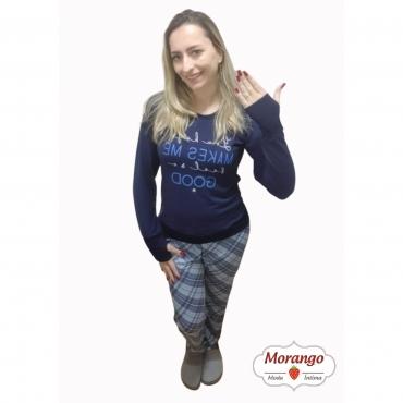 Pijama 1069 Manga Longa E CalÇa Xadrex