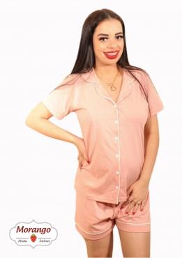 Pijama 1104 Manga Curta Aberto Com Fiteles