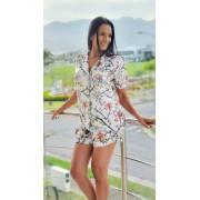 Pijama 11990 Manga Curta C/ Shorts Cetim Royal Rest