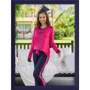 Pijama 205158 Visco Estrelas Decote