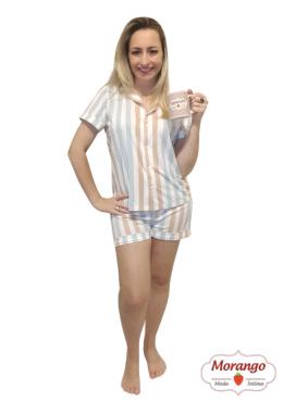 Pijama 3743 Tipo Americano Listrado