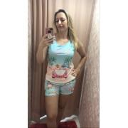 Pijama 3752 Regata C/shorts Cachorro Mae E Filha