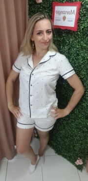 Pijama 3764 Camiseta C/shorts Botao