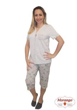 Pijama 6522 Pescador Aberto Floral