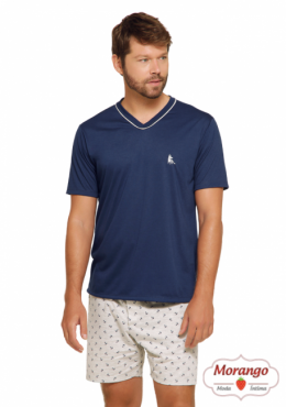Pijama 7550 Masc.manga Curta E Shorts Ancora