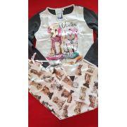 Pijama 9011/9012 Inf/juv Cachorro (lua Cheia)