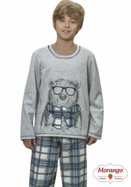 Pijama 9123/9124 Inf/juv Flanelado (lua Cheia)