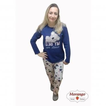 Pijama 9674 Manga Longa E CalÇa Coala Mae E Filha