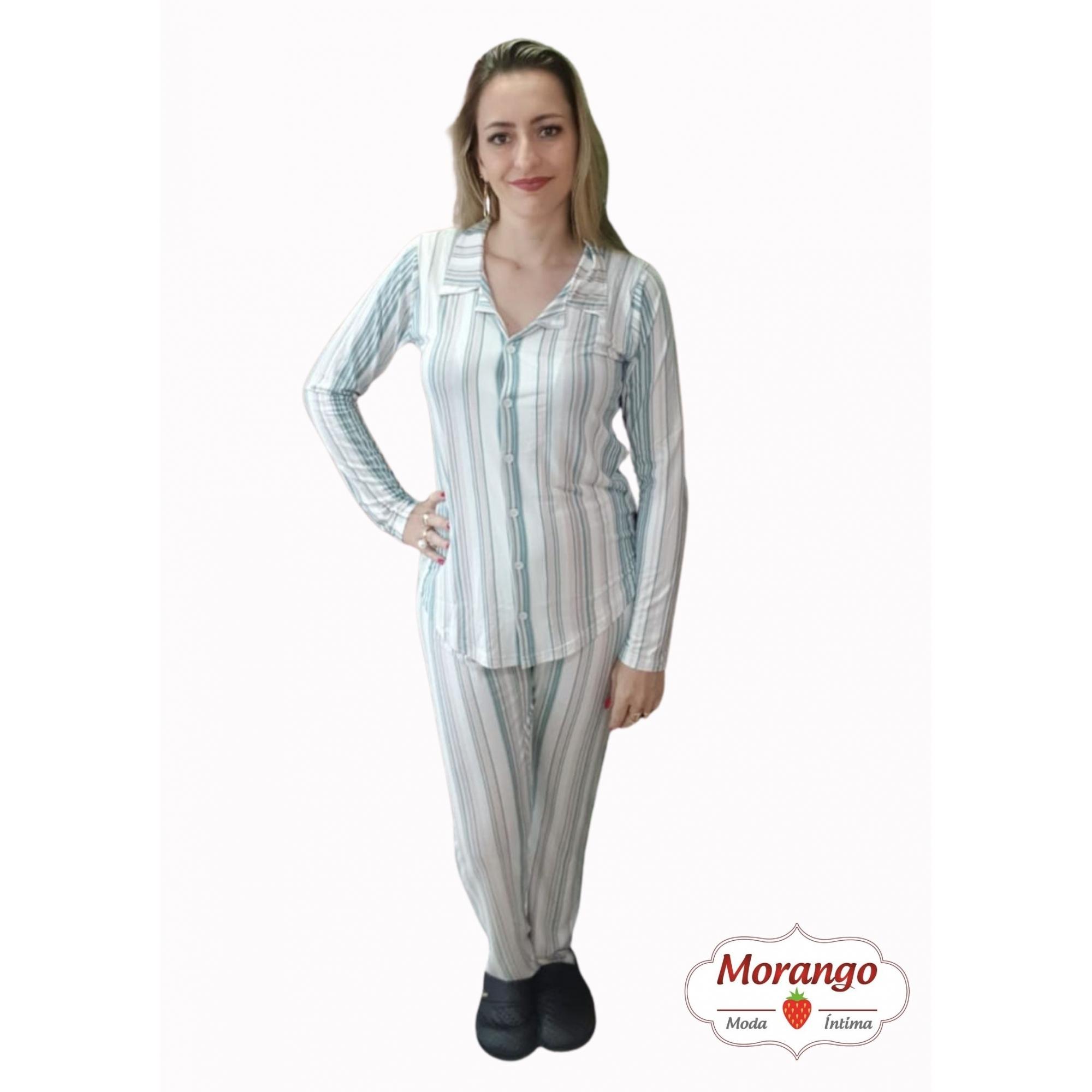 Pijama 1018 Aberto Listrado