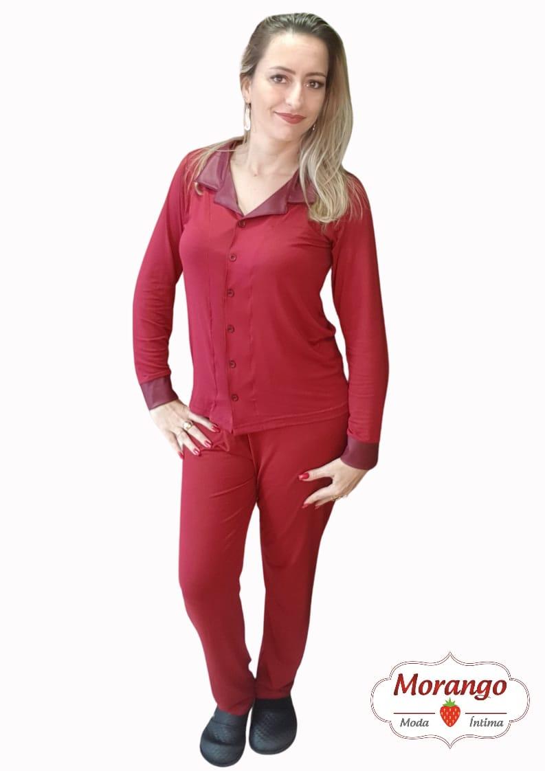 Pijama 1038 Aberto Gola E Punho Cirre