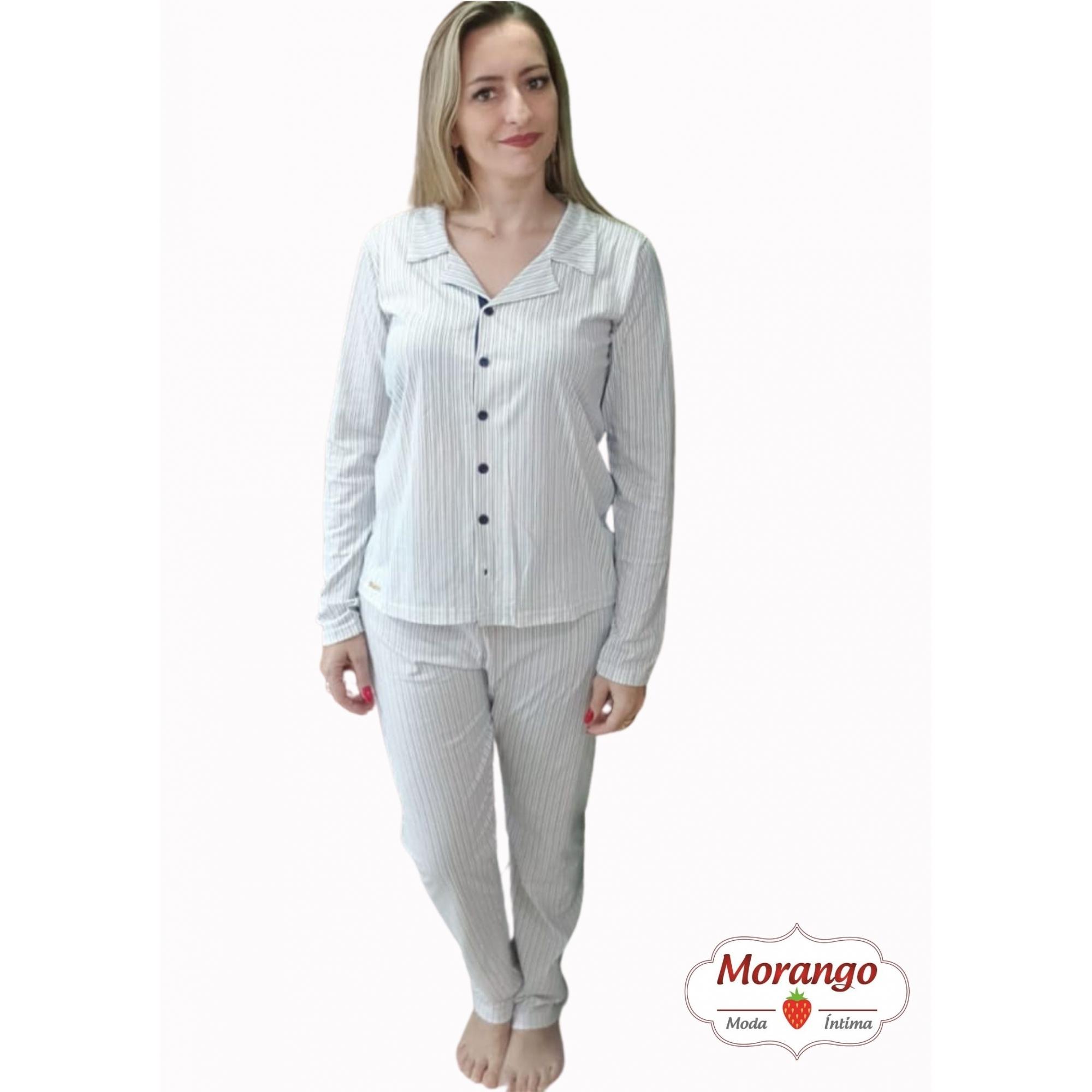 Pijama 1099 Aberto Listrado