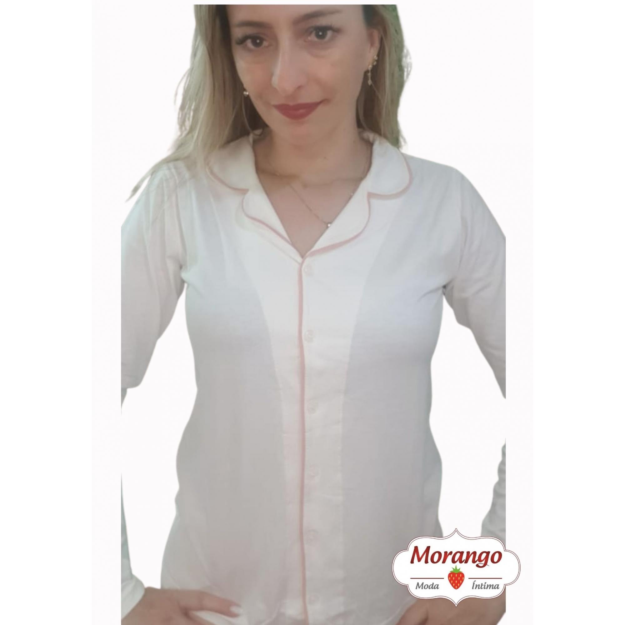 Pijama 1103 Aberto Manga Longa E CalÇa (100% Algodao)