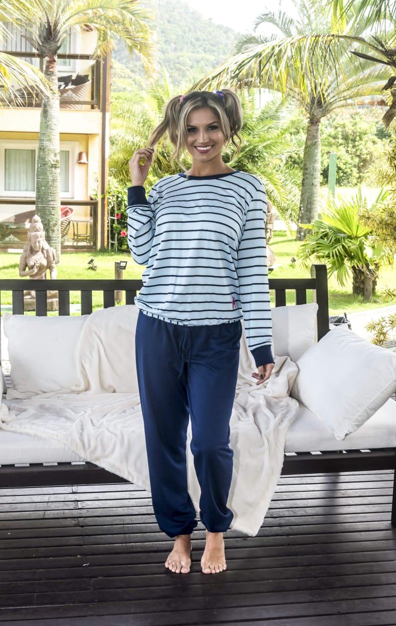 Pijama 205163 Moletinho Decote Careca