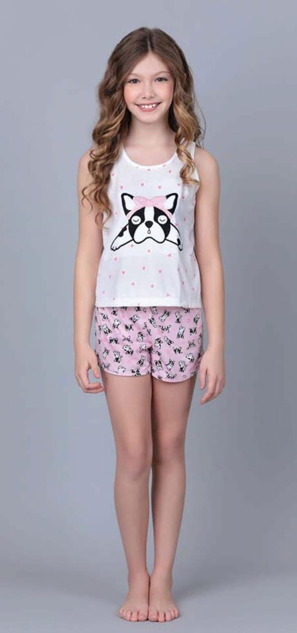 Pijama 3129/3130 Inf/juv Regata/ Short Buldogue (Lua Cheia)