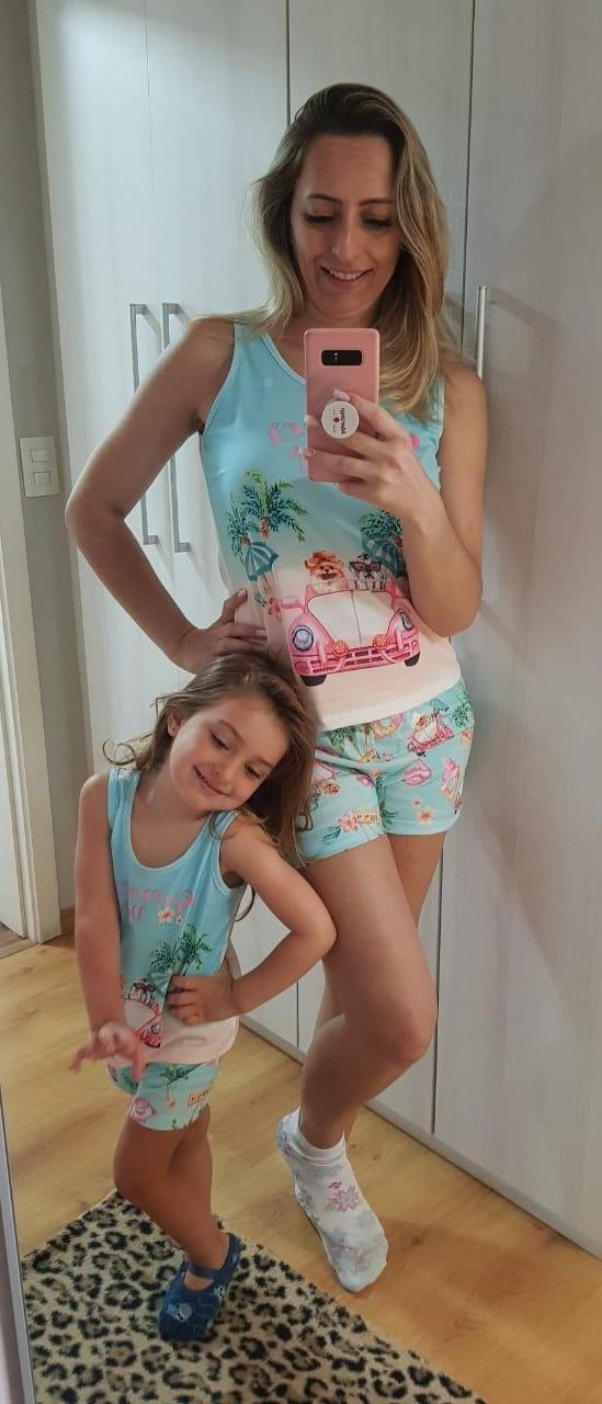 Pijama 3703/3704 Inf/juv Mae E Filha Cachorro