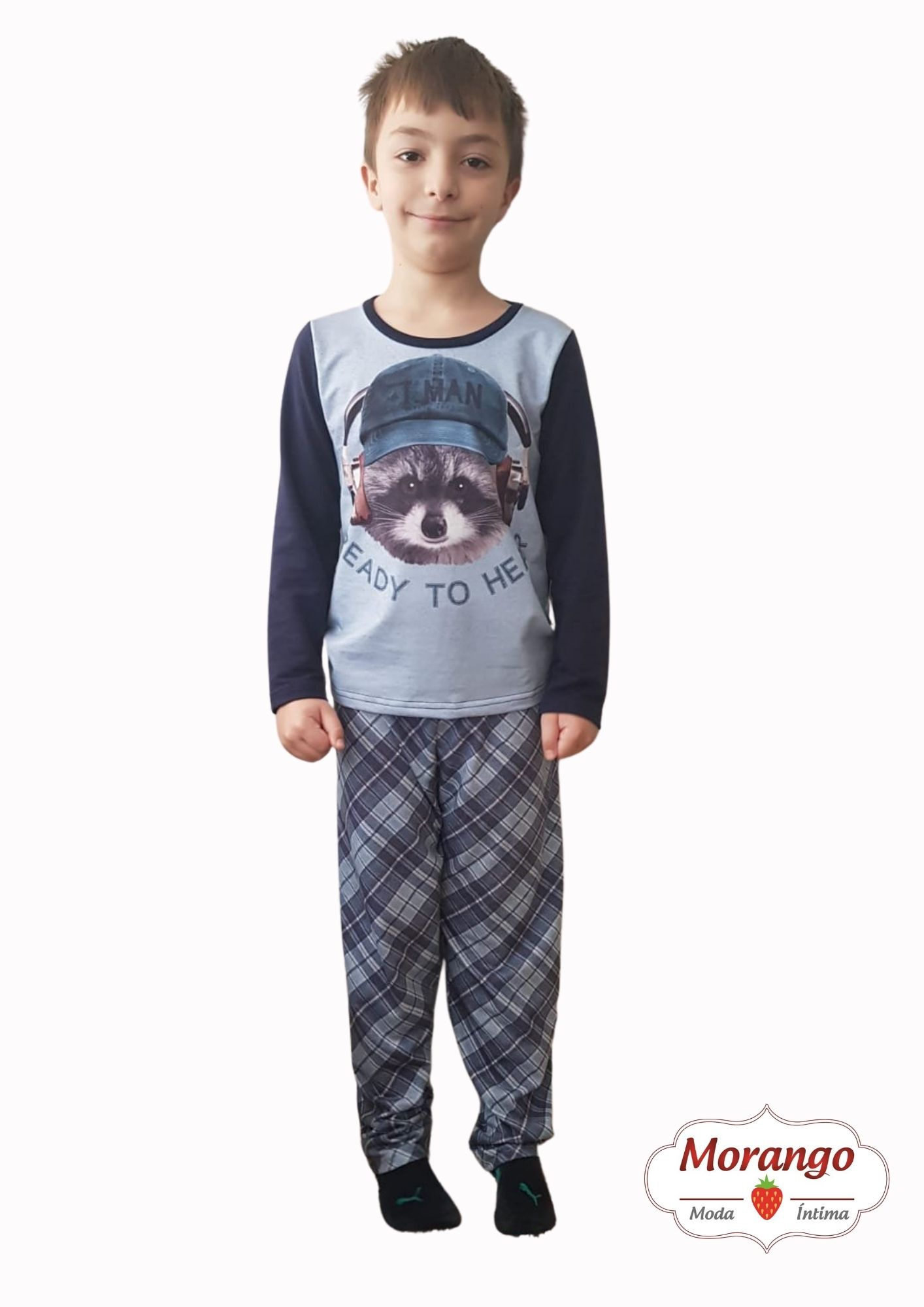 Pijama 4002 Manga Longa E CalÇa Molecoton