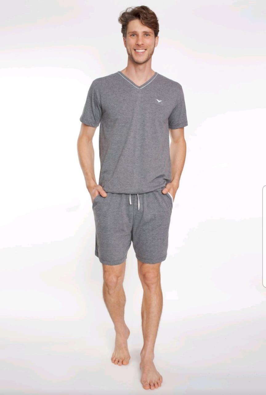 Pijama 8051 Gola V C/  Bolso Masc VerÃo (podiun)