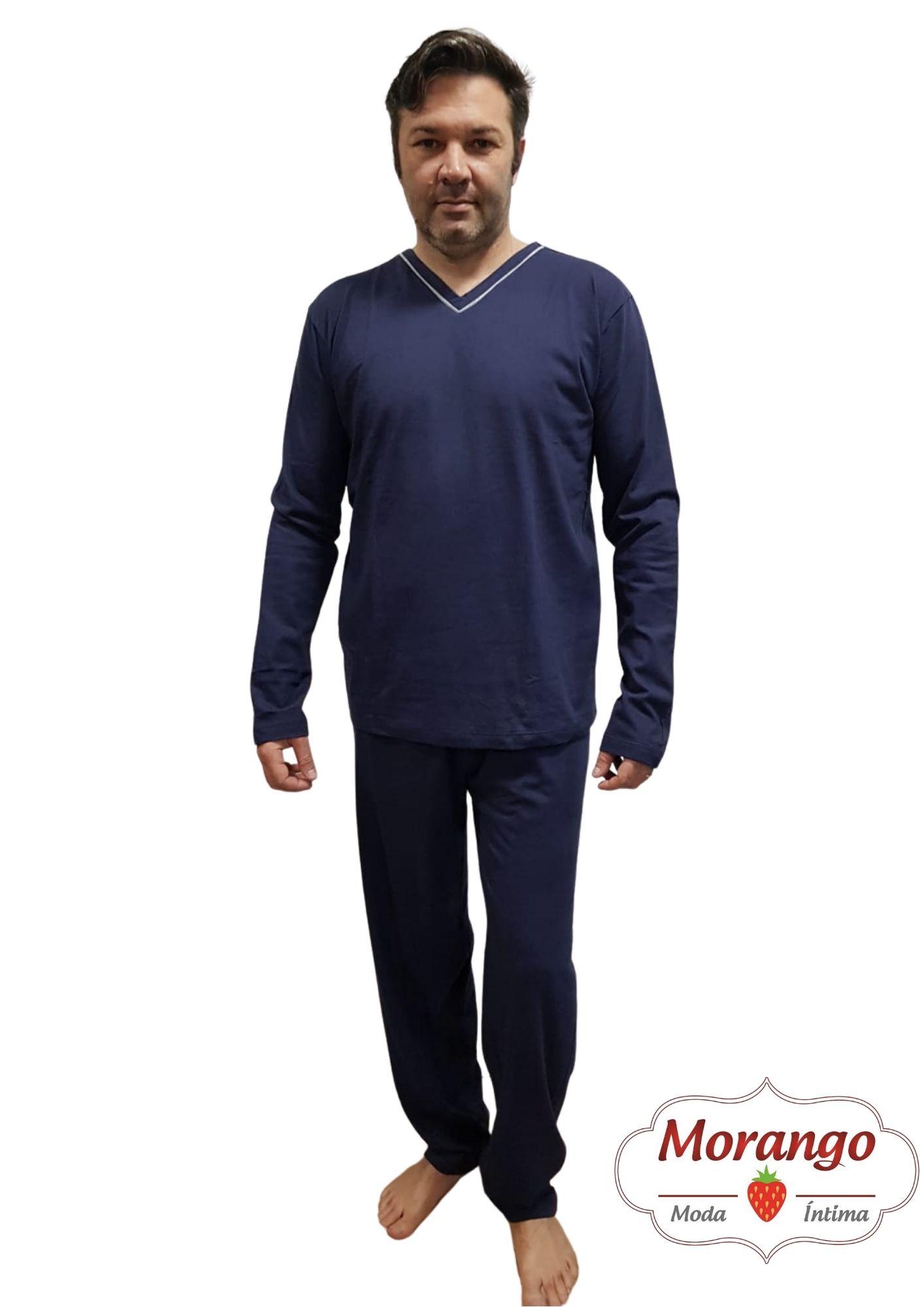 Pijama 8137 Malha Manga Longa