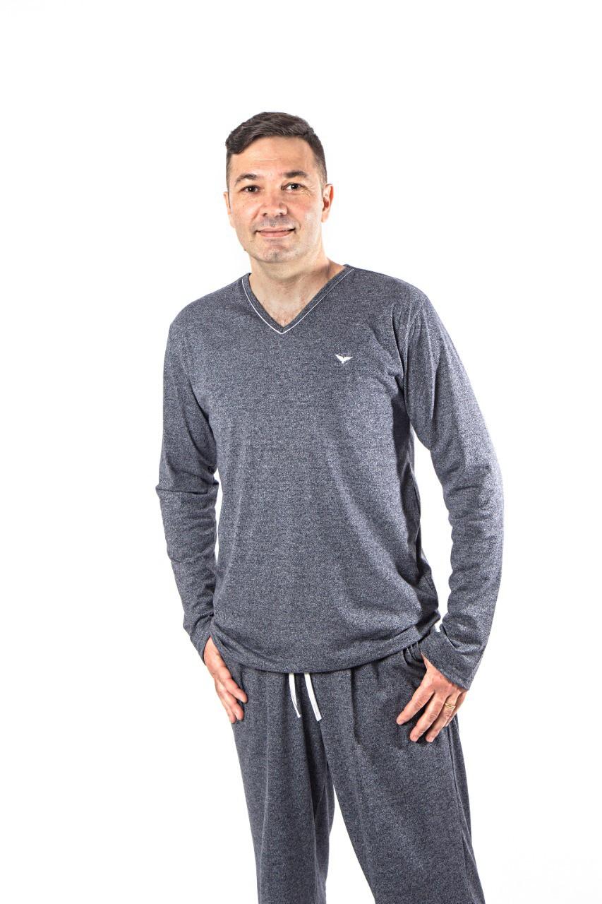 Pijama 8151 Gola V C/ Bolso Masc (podiun)