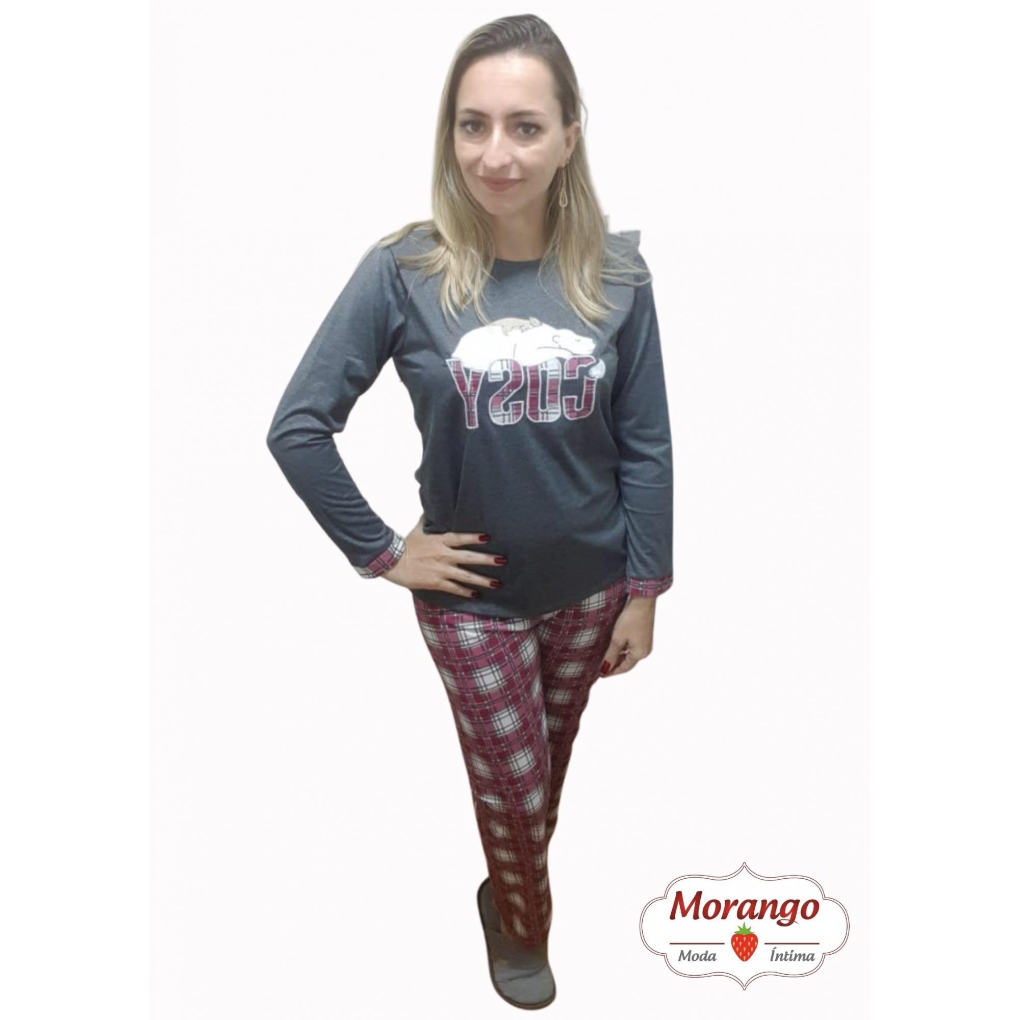 Pijama 9645 Manga Longa E CalÇa Xadrex
