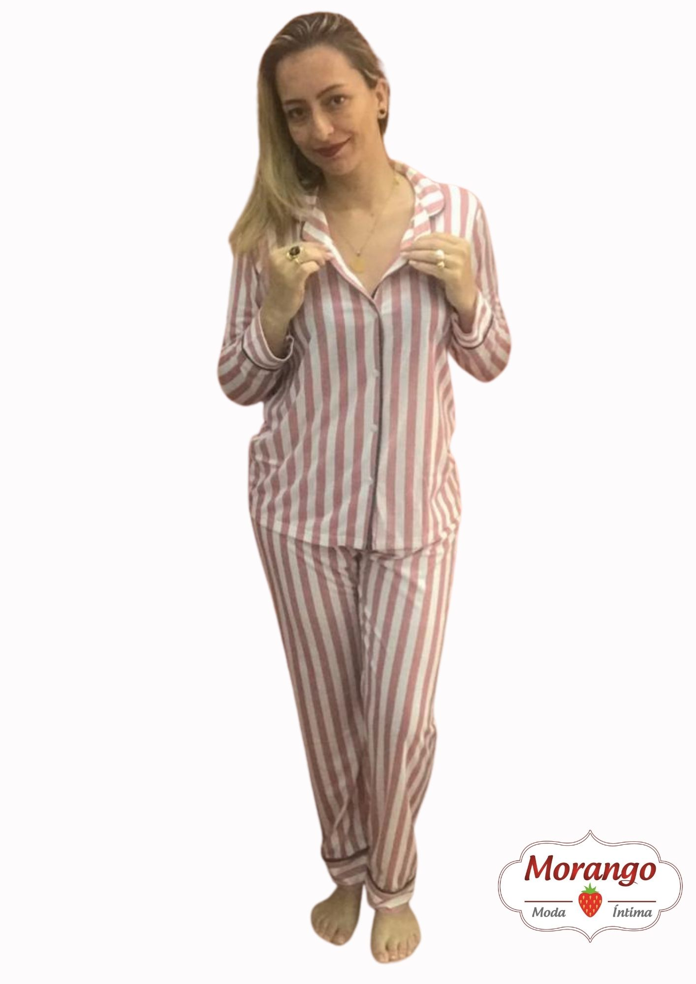 Pijama 9659 Manga Longa E CalÇa Listrado