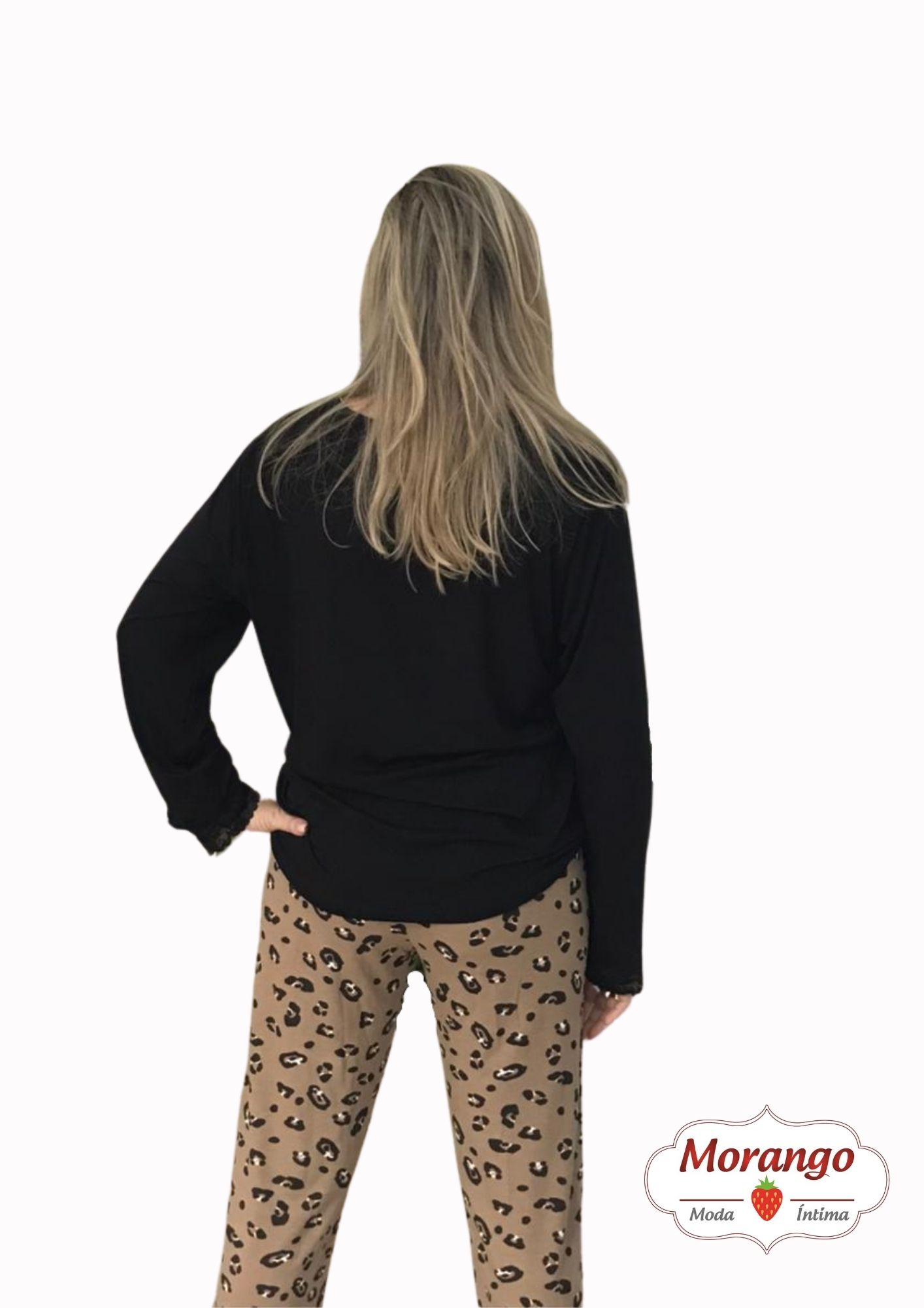 Pijama 9667 Manga Longa E CalÇa OnÇa
