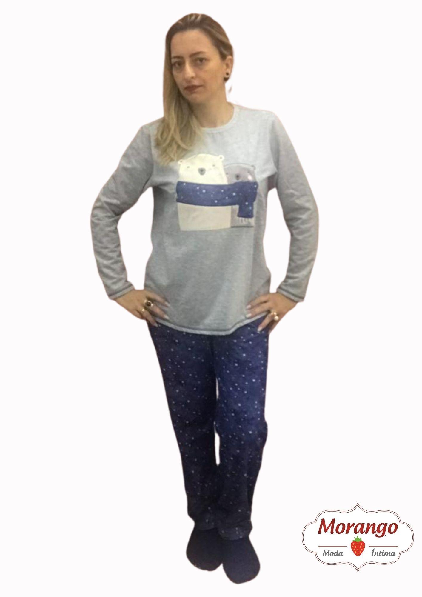 Pijama 9672 Manga Longa E CalÇa Mae E Filha