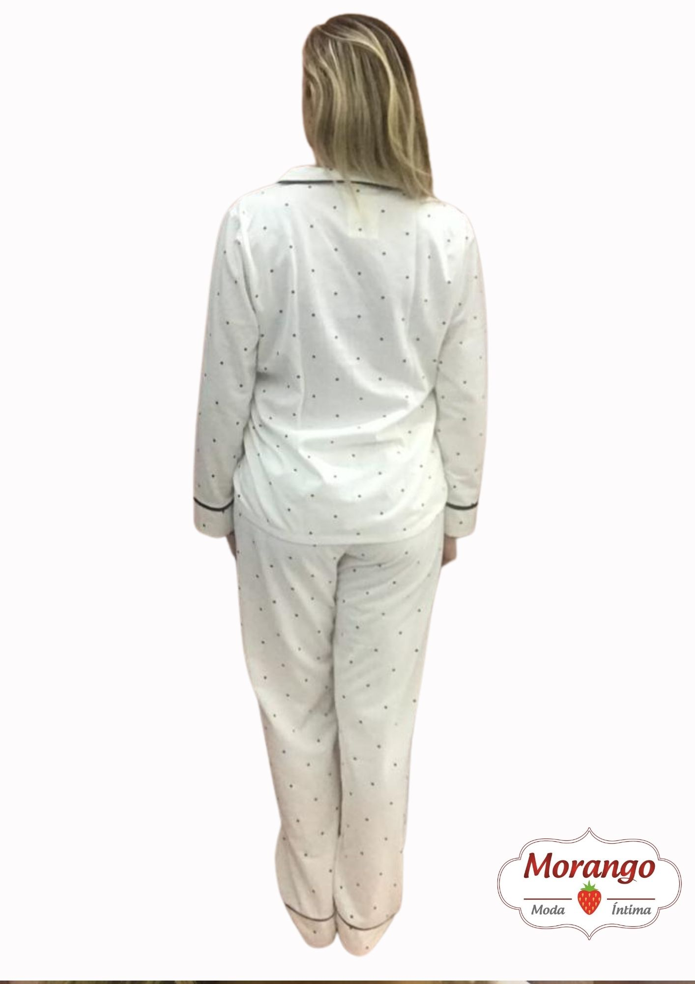 Pijama 9683 Aberto Manga Longa E CalÇa