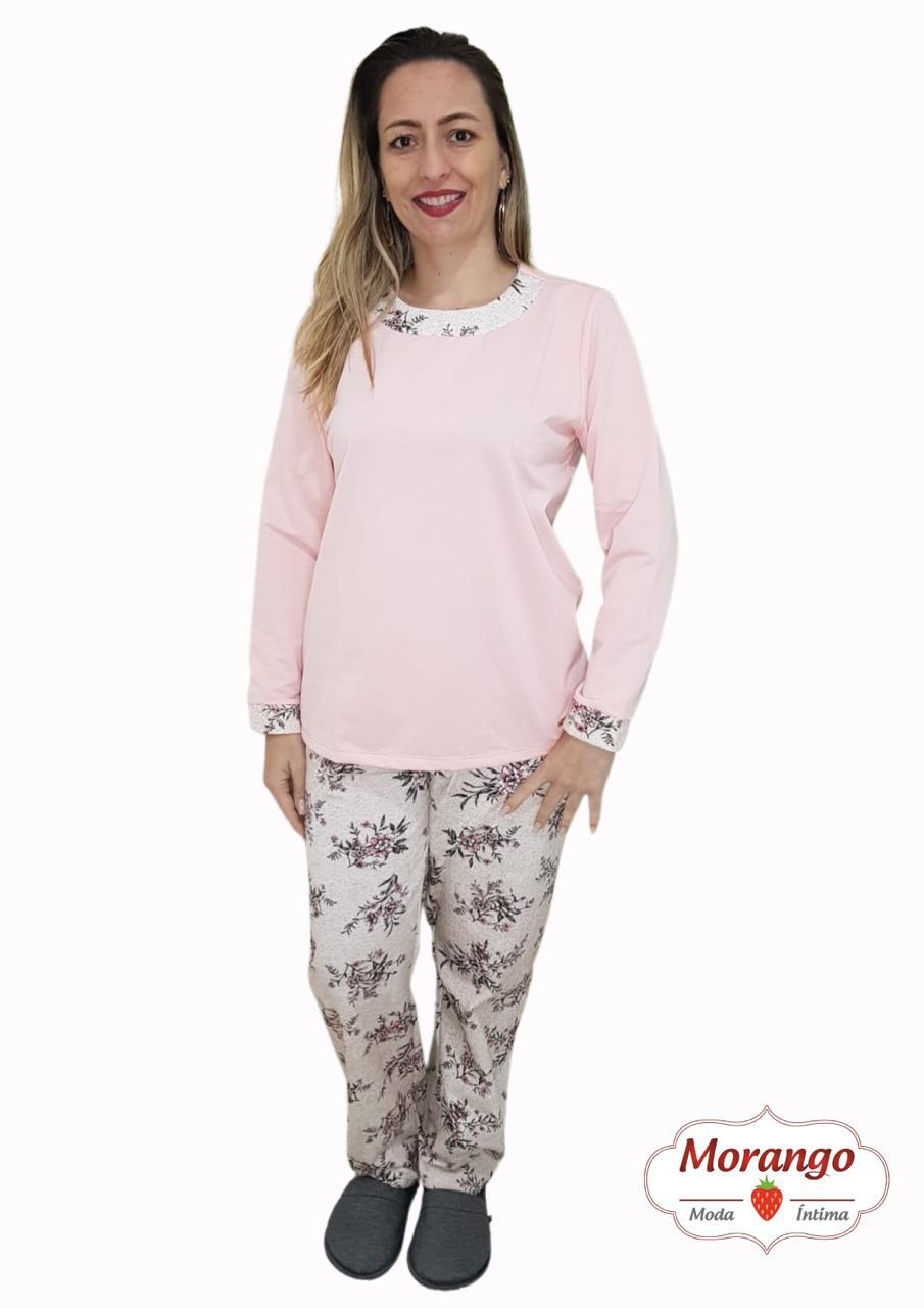 Pijama 9685 Manga Longa Floral