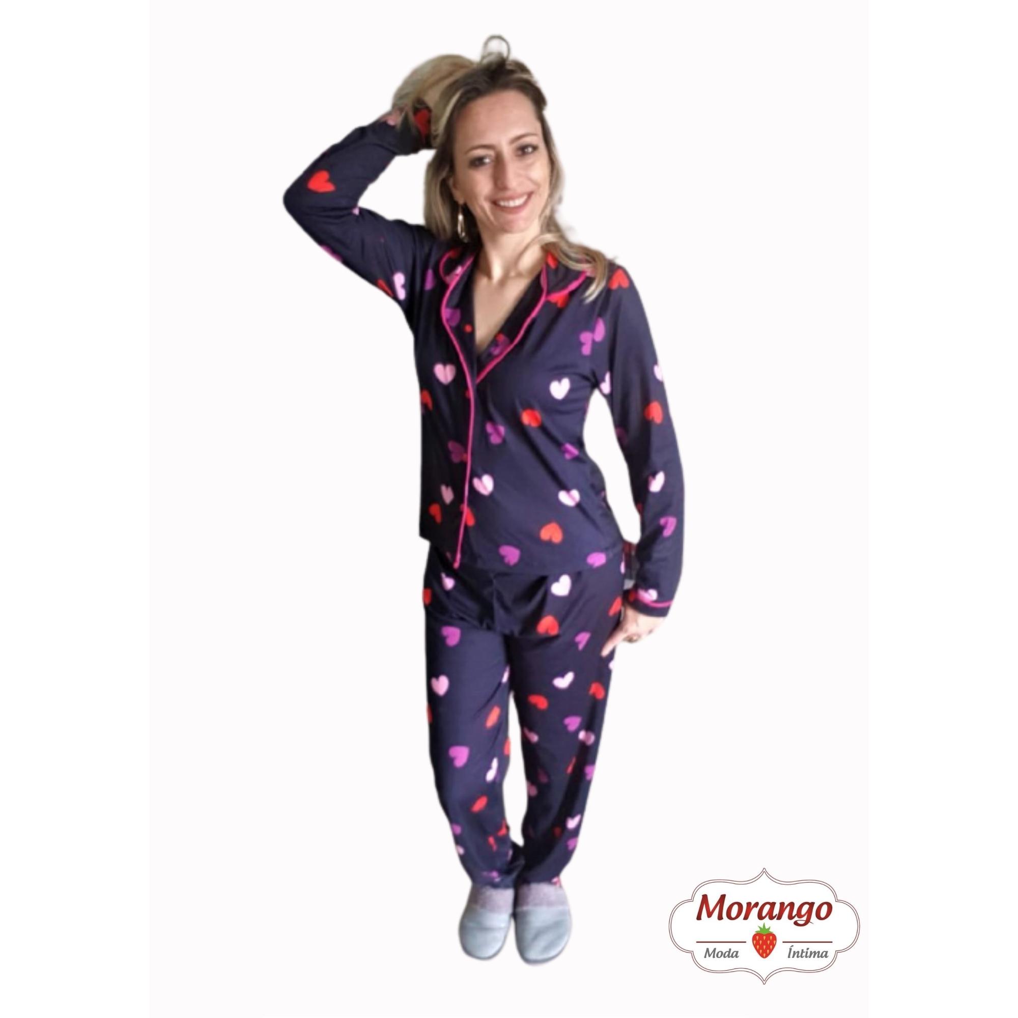 Pijama Americano Longo Aberto