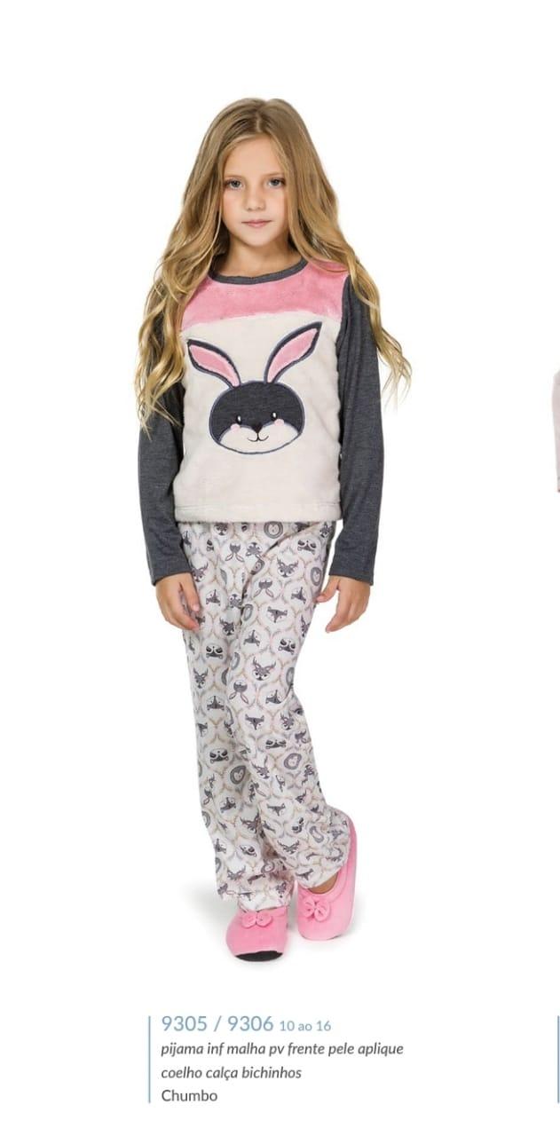 Pijama 9305/9306 infantil Coelho (lua Cheia)