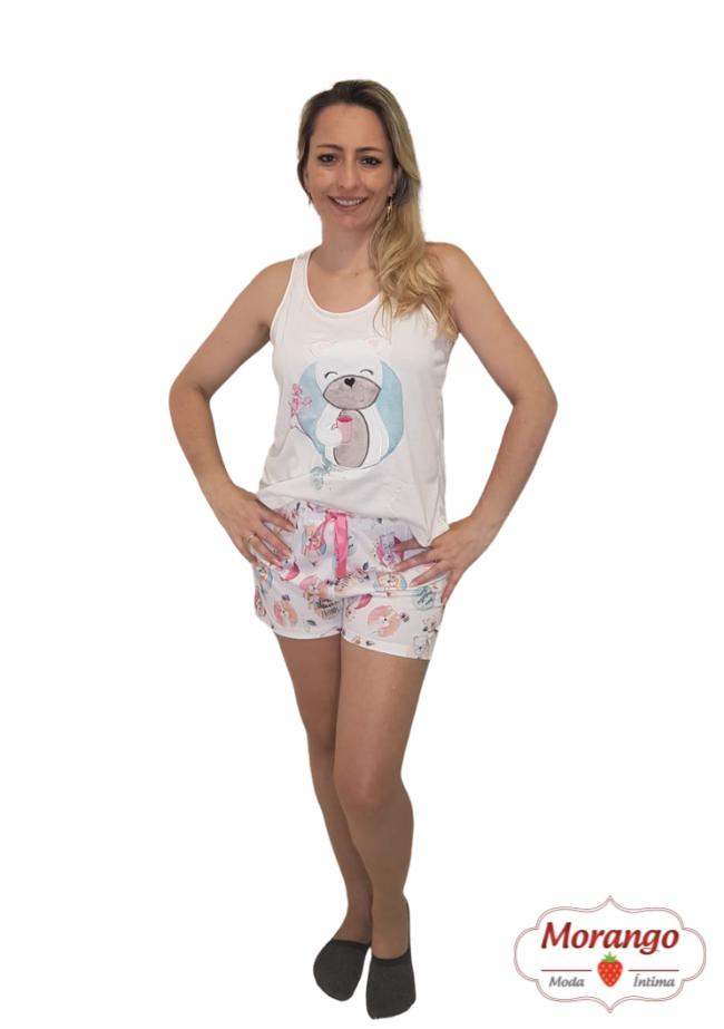 Short 3748 Doll Urso Mae E Filha